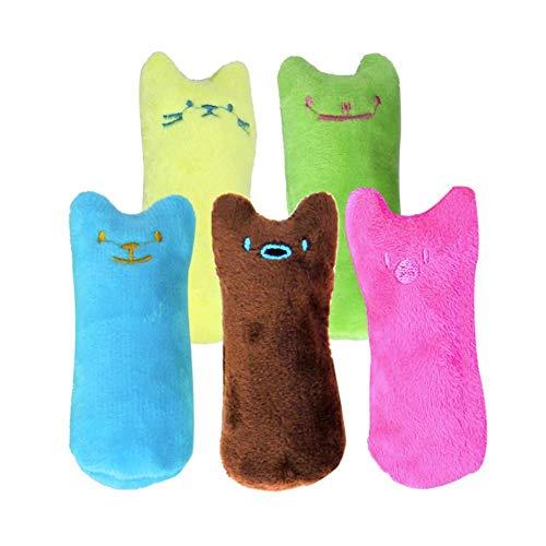 CloudWhisper 5 Stücke Nette Kissen Scratch Crazy Cat Kicker Katzenminze Spielzeug Zähneknirschen Spielzeug