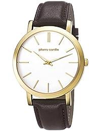 Pierre Cardin PC106511F24 - Reloj para hombres, correa de cuero color marrón