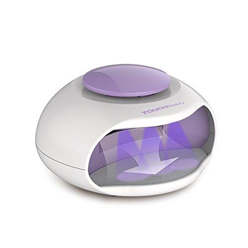 Touchbeauty ag-0889 asciuga unghie portatile ad aria e luce led ottimo per smalto per unghie normale, formato mini, ventola potente, a pile