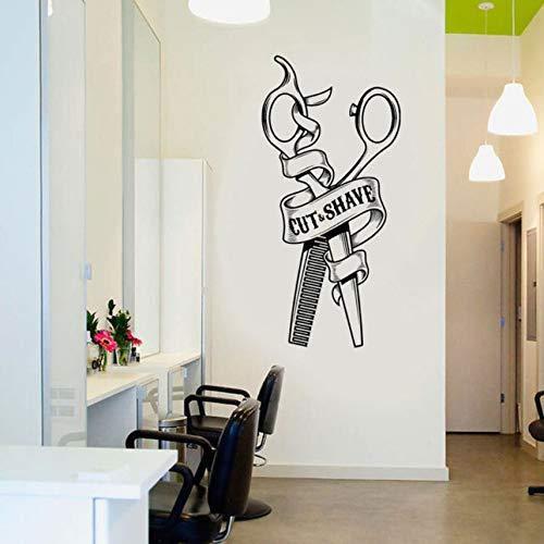 Wandtattoo Wandsticker Wandaufkleber Persönlichkeitswandaufkleber der Friseurschere entfernbare, Wohnzimmerschlafzimmersofahintergrundwand