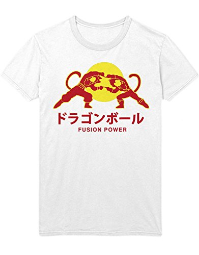 T-Shirt Vegeta Son Goku Fusion Power Logo Dragon Z GT Super Trunks Gohan C980009 Weiß ()