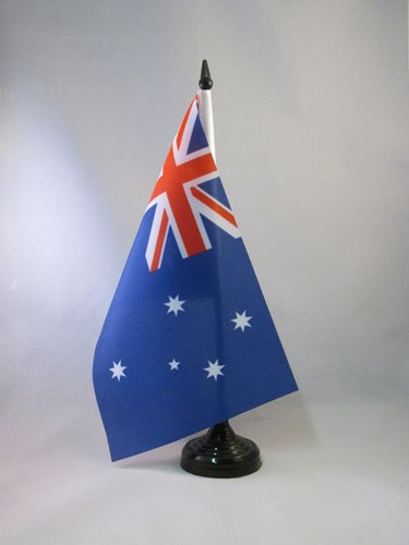 AZ FLAG TISCHFLAGGE AUSTRALIEN 21x14cm - AUSTRALISCHE TISCHFAHNE 14 x 21 cm - flaggen