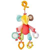 Baby Fehn Kıskaçlı Aktivite Oyuncağı Fil, Çok Renkli