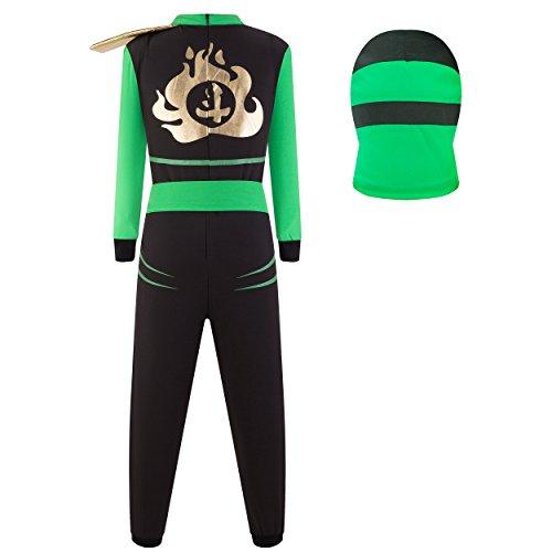 Imagen de katara  disfraz de ninja guerreros  disfraz infantil para niños, costume de ninja para carnaval o halloween, talla m, color verde alternativa