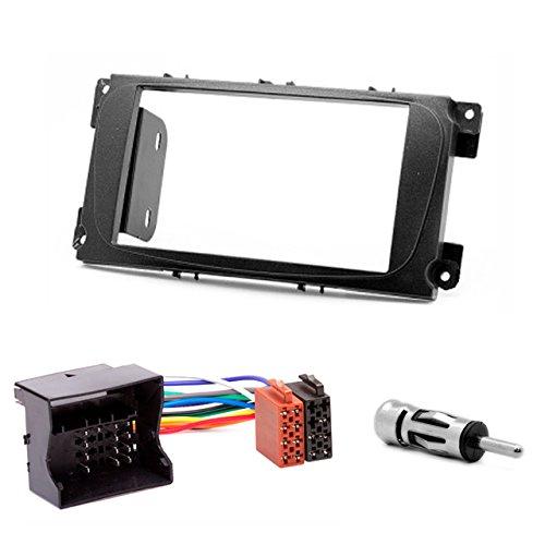 CARAV 08-002-23-6 Double DIN 2 Kit de façade d'autoradio Single DIN avec adaptateur ISO
