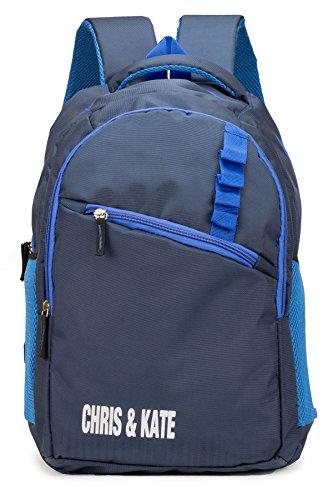 Chris & Kate Polyester 28 Litres Navy Blue Spacious School Bag