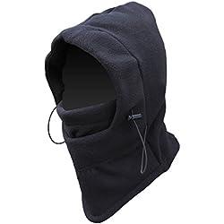 tobe-u doble Capas Thicken Cálido Forro Polar resistente al viento de esquí Máscara de Cara Completa