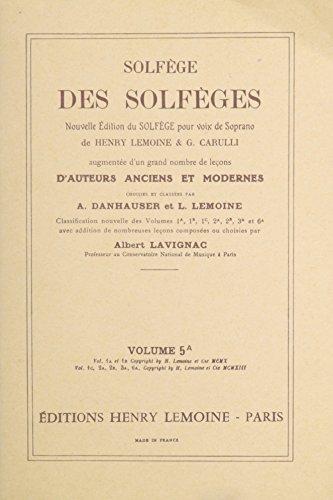 Solfège des Solfèges Volume 5A sans accompagnement