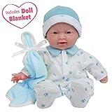 JC Toys La Baby Boy Washable Soft Body Play Doll, Blue