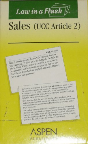 Sales UCC Article 2 (Law in a Flash Cards)