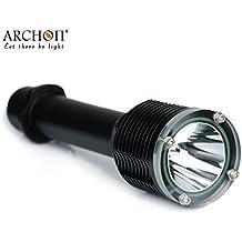 Archon W28luz al aire libre impermeable linterna 1000lúmenes Cree LED ultrabrillante linterna submarina 328ft Snorkeling lámpara con 2x 26650li-ion recargable y caja de transporte