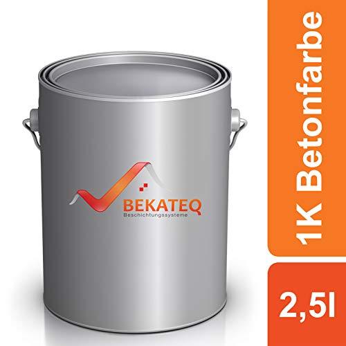 BEKATEQ Betonfarbe LS-470 zur Beschichtung und Versiegelung - RAL9010 Weiss - 2,5L
