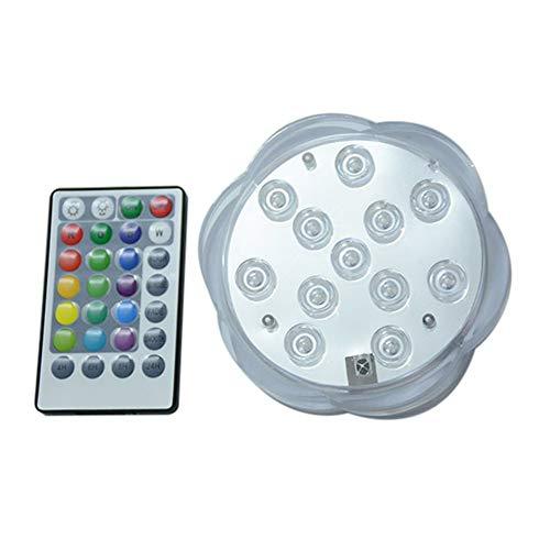 dichtes Kerzenlicht Unterwasserlicht für Zuhause Beleuchtungsvase mit Fernbedienung Weiß ()