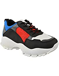 c1204cf55fbd7 Fashion Thirsty Heelberry® Womens Ladies Chunky Dad Sneakers Trainers Bali  Runners Designer New Shoes Size