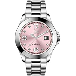 Ice-Watch - Ice Steel Light Pink Silver - Montre Argent pour Femme avec Bracelet en Metal - 016776 (Medium)