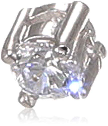 Tous mes bijoux COMO01007 Kurze Halskette, silber(Zirkonoxid),45,0 cm