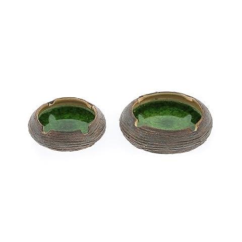 Céramique &Cendrier en Verre Vert