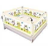 Laufgitter Krippe Geländer Baby bruchsicher Zaun großes Bett 1,5-2,0 Meter Kinder gegen Schallwand...