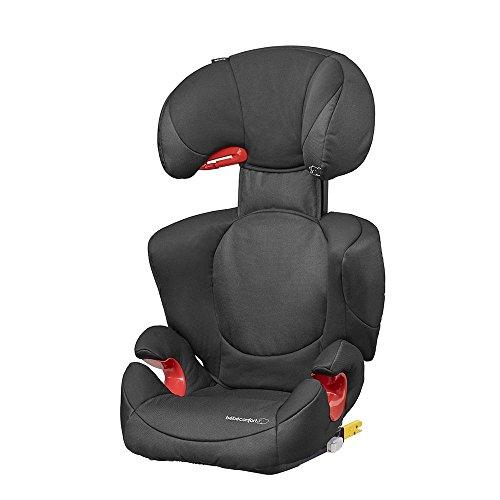 Bébé confort rodi xp fix seggiolino auto gruppo 2/3, per bambini con peso 15-36 kg, da 3.5 a 12 anni circa, installazione con isofix o con cintura 3 punti, nero