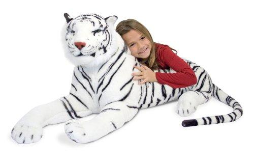 Melissa & Doug - Tigre de peluche, color blanco (13979)