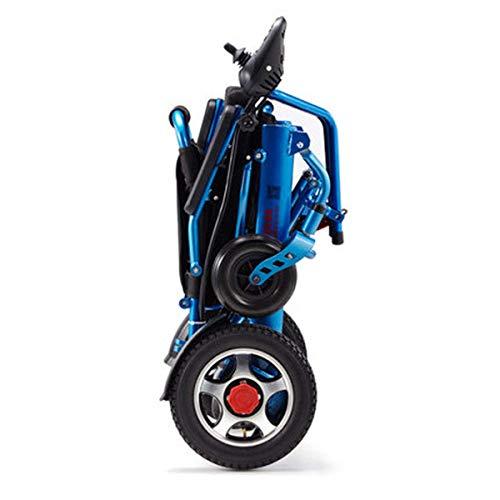 L&WB Leichte faltende tragen elektrische Rollstühle, dauerhafter Rollstuhl, sicher und einfach für zusätzlichen Komfort Fahren, blau