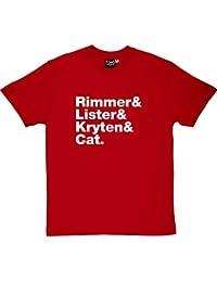Rojo de manga corta para hombre-up enano T-camiseta de manga corta