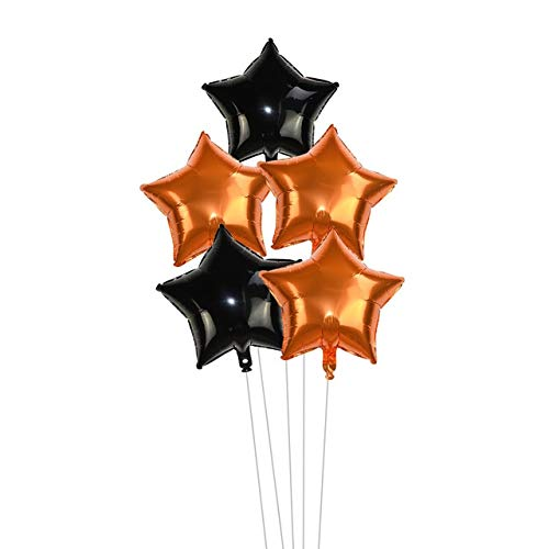 SHENFENZHENG RoomDecor 5pcs 18inch Gold Silber Folie Stern Ballon Hochzeit Ballons Dekoration Baby Dusche Kinder Kinder Geburtstag Party Ballons Globos Halloween-Set