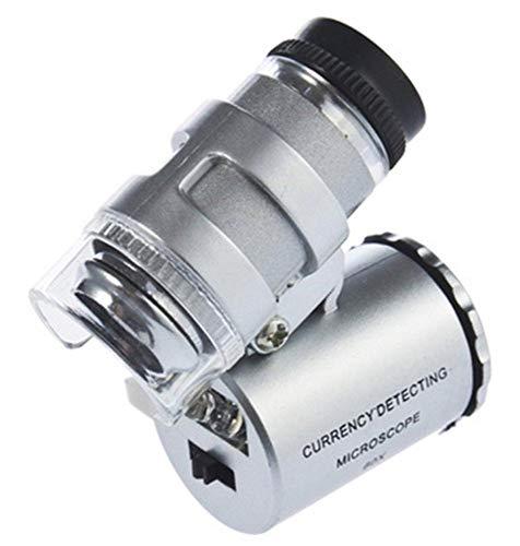 Aeromdale Lupe Lupe Juwelier Auge Mikroskop Handheld Uv UV-Lampe 60X 60F Geschenk -