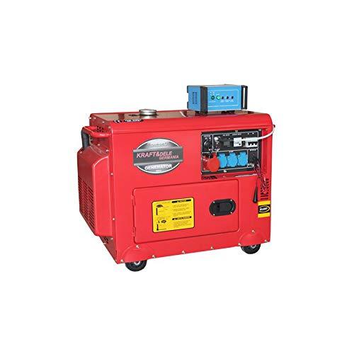 Generatore diesel silenziato monofase 3x220v 1x380v trifase kraft&dele + ats gruppo elettrogeno 6,5 kw