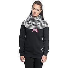 Pussy Deluxe Unicorn Hooded Damen Kapuzen Wendejacke schwarz Alloverdruck