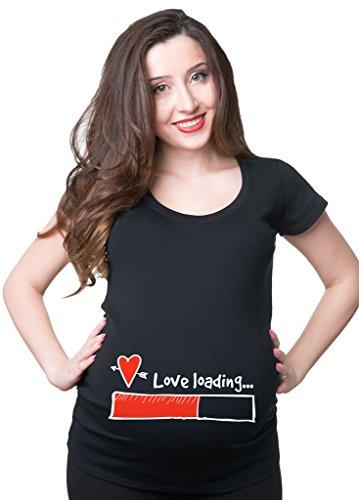 be9eb5633 Silk Road Tees Camiseta del Embarazo Amor de Las Mujeres Cargando Superior  de la Maternidad X