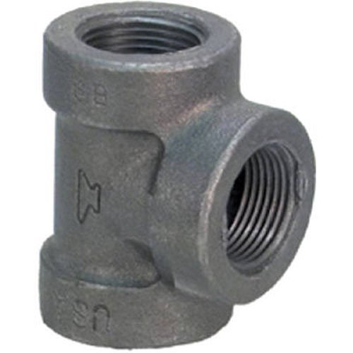Anvil Fonte malléable Raccord de tuyau, classe 150, Tee, NPT femelle, finition noire, 3/4\