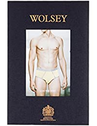 Wolsey Contrast Piping Low Rise Brief, Red/Grey