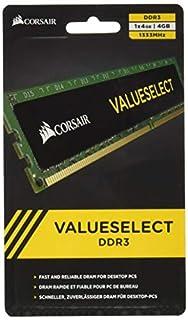 Corsair CMV4GX3M1A1333C9 Value Select 4GB (1x4GB) DDR3 1333 Mhz CL9 Mémoire pour ordinateur de bureau (B003XFT3XE) | Amazon price tracker / tracking, Amazon price history charts, Amazon price watches, Amazon price drop alerts