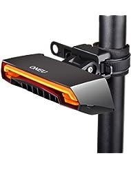 ONEU Eclairage Vélo, 6 Modes ECO-FRIENDLY USB Rechargeable Étanche IPX4 Lumière LED Feu Arrière pour Vélo, Cyclisme, Vélo de Course avec Télécommande