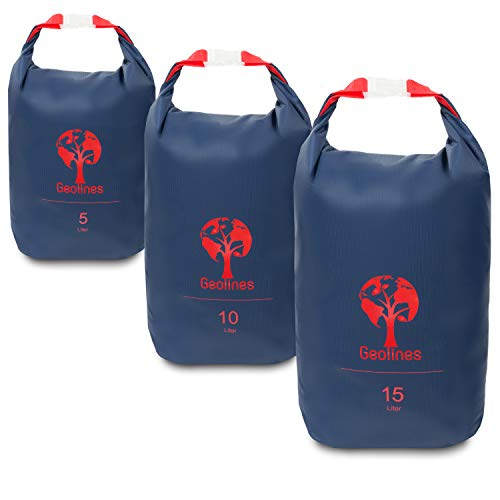 Drybag Packsack/Ultra Light Packsack (blau, Set 5 Liter, 10 Liter, 15 Liter)