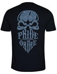 Pride or Die MMA Negro motivo Cachemira Reckless Camiseta - NUEVO - XX-Large
