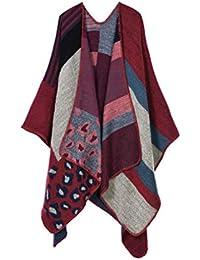 DAMILY Femmes Hiver Léopard Désign Foulard Châle Cachemire Imitation Poncho  Capes 63a6181d77c
