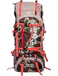 Hyper Adam 65 L Rucksack Hiking Backpack Trekking Bag Camping Bag Travel Backpack Outdoor Sport Rucksack Bag 65 Ltrs (Camo)