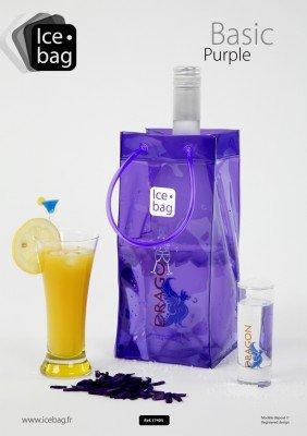 Ice-Bag Lila / Violet / Purple Weinkühler - Sektkühler - Flaschenkühler - 0,5 mm