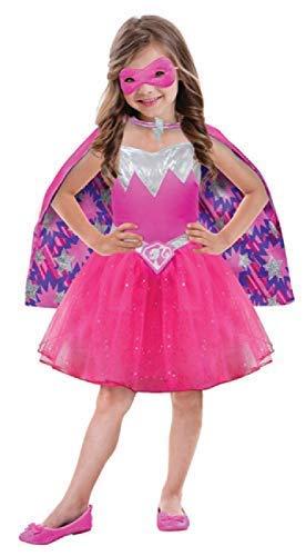 fiziell Barbie Power Prinzessin Rosa Lila Superheld Tv Buch Film Kostüm Kleid Outfit 3-7 Jahre - 3-5 Years ()