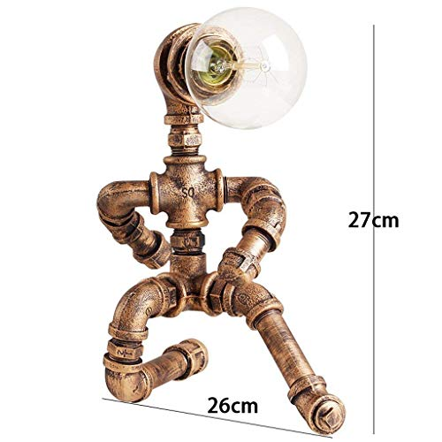 AAXCC Tischlampe Retro Industrial Edison Glühbirne Study Bar Cafe Personalisierte Roboter Kreative Eisen Wasserleitung...