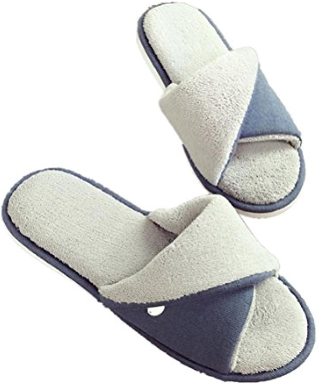 mhgao Home Interior antideslizante hombres cálido Casual zapatillas, 2, medium