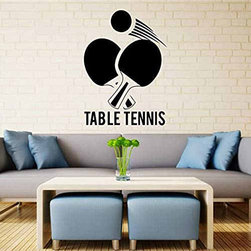 Wandaufkleber Tischtennis Wandtattoo Ping Pong Gym Vinyl Aufkleber Kunst Decor Sport Wandbild [Größe: 41x57cm]