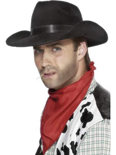Luxuspiraten - Kostüm Accessoires Zubehör Herren Western Cowboy Hut, perfekt für Karneval, Fasching und Fastnacht, Schwarz