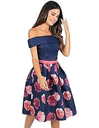 bd4f258b5ef8 Amazon.it  Fantasia blu - Vestiti   Donna  Abbigliamento