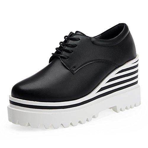 Chaussures plateforme/chaussures de plate-forme à l'automne/Hauteur croissantes chaussures/Cales chaussures/Plate-forme ronde chaussures féminines UK B