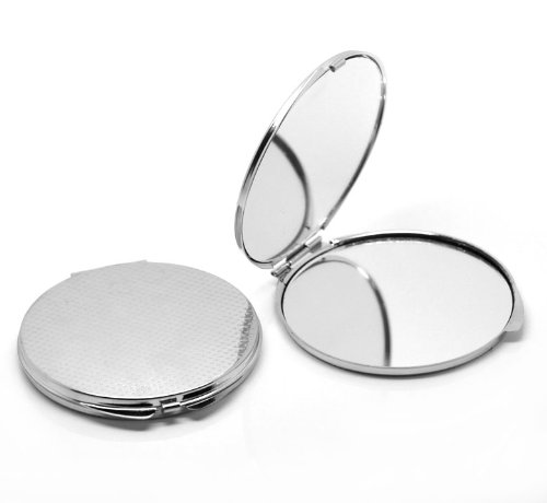 Housweety 1 Miroir de Poche Rond Maquillage 8x7.4cm