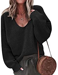 1ee61b61e7123 Pull Col V Femme Chandail Maille Tricot Pull Torsadé Femme Oversize Pull  Epais Grosse Maille Fine