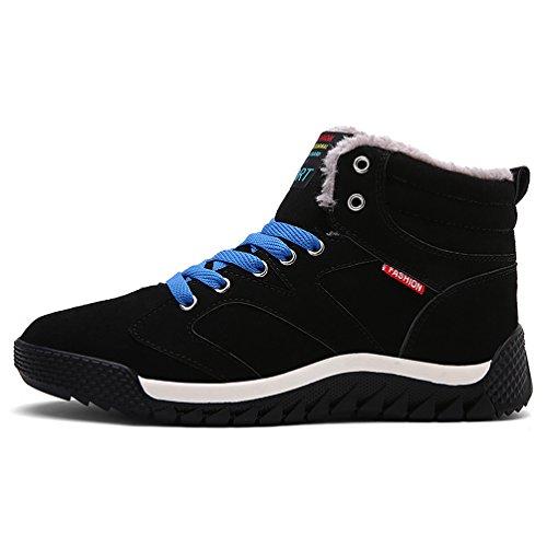 Affascinanti Scarpe Da Ginnastica Invernali Calde Sneakers Da Basket Alte Per Il Tempo Libero Per Unisex Adulti Uomo Nero-a